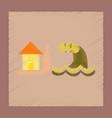 flat shading style icon flood house vector image vector image
