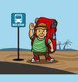 go travel bring backpack vector image vector image