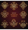 Gold festive ethnic elemets set vector image vector image