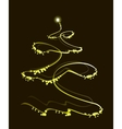 Golden Christmas tree with a star EPS10 vector image vector image