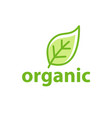 green leaf organic logo eco icon nature flower vector image vector image
