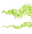 green leaf wave background vector image vector image