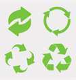 green recycle icon set vector image vector image