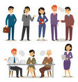 group asia working executive chinese business vector image vector image