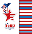 Happy independence day card 4th of July abstract vector image