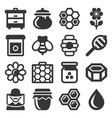 honey icons set on white background vector image