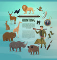 hunting club open season safari poster vector image vector image