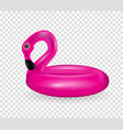 inflatable circle for swimming and relaxing pink vector image vector image