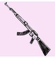 kalashnikov assault rifle vector image
