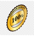 label premium quality isometric icon vector image vector image