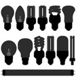 lightbulb light bulb lamp set a set of light bulb vector image