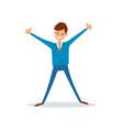 man celebrating success successful businessman vector image
