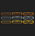 metallic title banners set for epic game design vector image vector image
