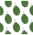 military green grenade seamless pattern vector image
