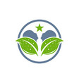 modern therapy head logo vector image vector image