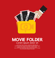 Movie Folder vector image vector image