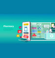 online pharmacy and medicine concept vector image