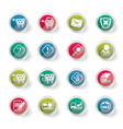 online shop icons over colored background vector image vector image