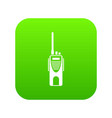 radio transmitter icon digital green vector image