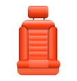 red car seat icon cartoon style vector image vector image