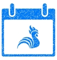 Rooster Calendar Day Grainy Texture Icon vector image vector image