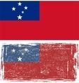 Samoa grunge flag vector image vector image