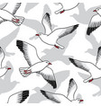Seamless pattern with seagulls