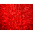 seamless red geometric background vector image