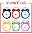 set of alarm clock vector image