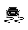 stability control black glyph icon vector image