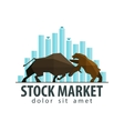 stock market business logo design template vector image vector image