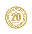 Template Logo 20 Years Anniversary vector image vector image
