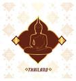 thailand buddha statue thai design pink background vector image vector image