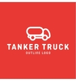 Truck trending an outline line quality logo vector image