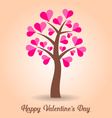 Valentine card with tree vector image