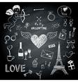 Valentines day symbols vector image