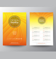 yellow flyer design template minimal abstract vector image vector image