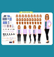 young woman casual clothes full length vector image vector image