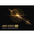 Zenith sun shine through lens light effect vector image vector image