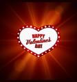 Heart frame Valentines day design vector image