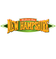 New Hampshire The Granite State vector image