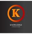 K Letter logo abstract design vector image