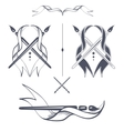Ribbon with brushes vector image