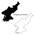 1053 pyongyang north korea vector image vector image