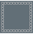 3d white frame in arabic style vector image vector image