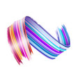 abstract paint brush stroke colorful curl vector image