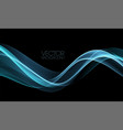 abstract shiny color blue wave design vector image