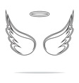 Angel wings icon outline1 vector image vector image