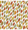 Autumn fallen leaves pattern Element for holiday vector image
