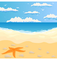 beach and the sea in summer day a vector illustrat vector image vector image